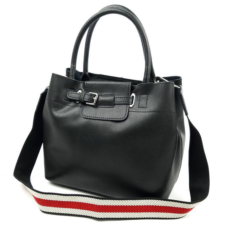 Женская кожаная сумка черного цвета, galanty подробнее - Фото 2