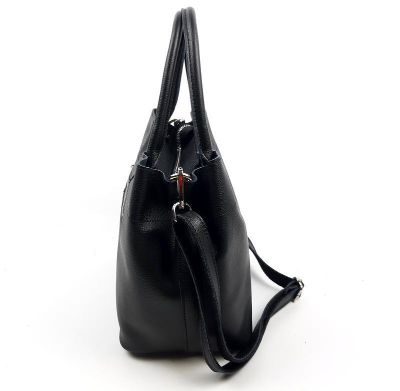 Женская кожаная сумка черного цвета, galanty подробнее - Фото 3