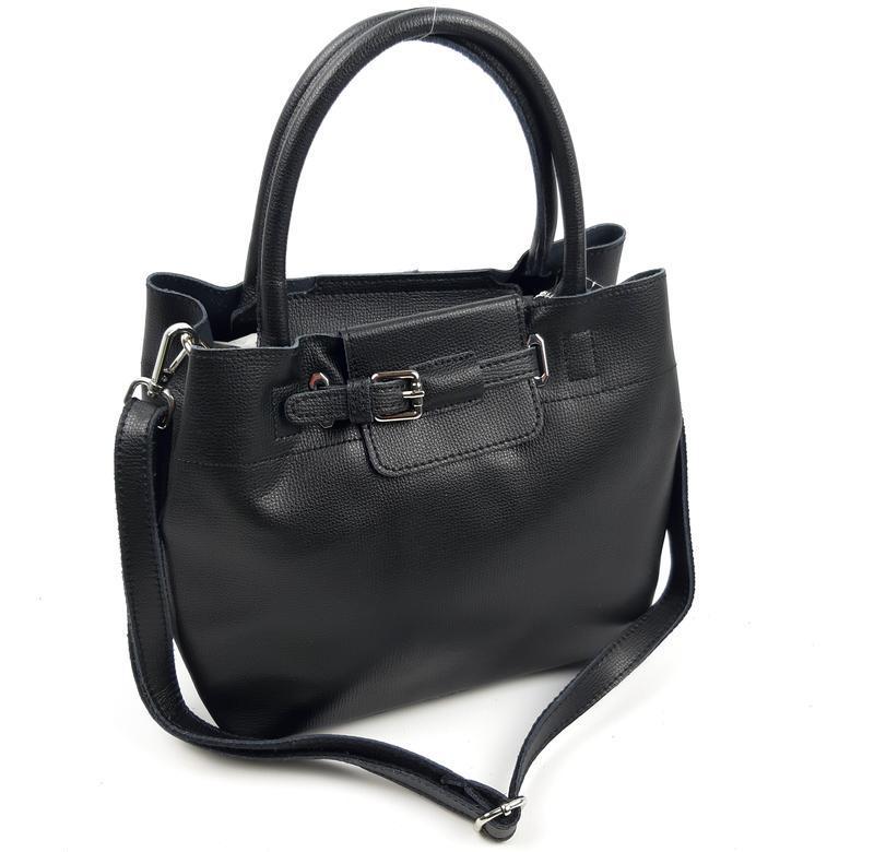 Женская кожаная сумка черного цвета, galanty подробнее - Фото 4