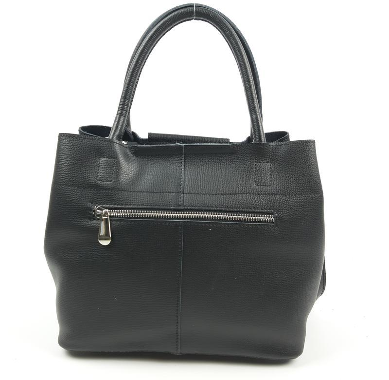 Женская кожаная сумка черного цвета, galanty подробнее - Фото 5