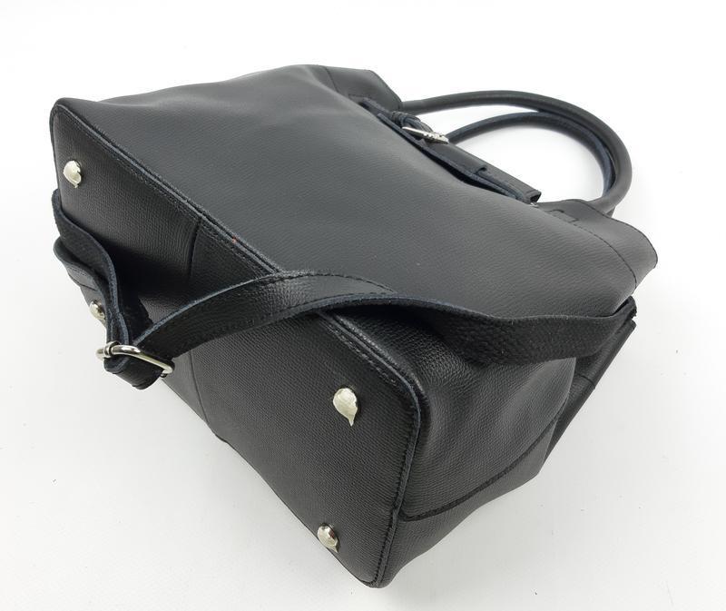 Женская кожаная сумка черного цвета, galanty подробнее - Фото 8