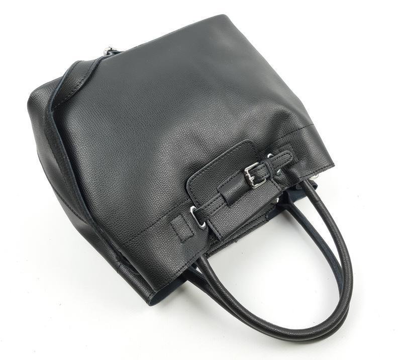 Женская кожаная сумка черного цвета, galanty подробнее - Фото 9