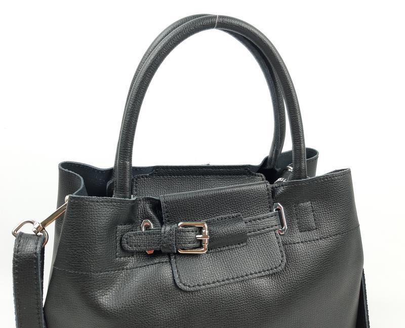 Женская кожаная сумка черного цвета, galanty подробнее - Фото 10