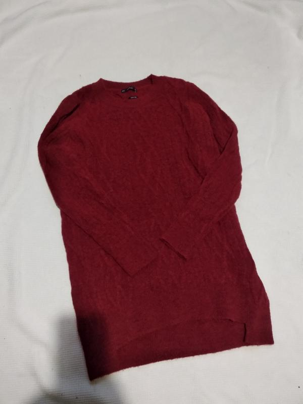 Удлиненный теплый свитер пуловер кофта с косами zara - Фото 3