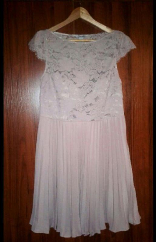 H&m платье кружевное, ажурное, плиссированное, плиссе - Фото 7