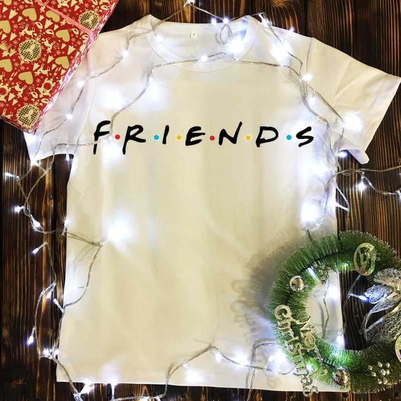 Мужская футболка с принтом - friends