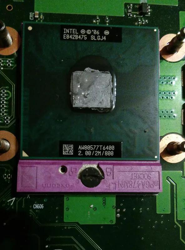 Процессор для ноутбука двухядерный Intel Core 2 Duo T6400