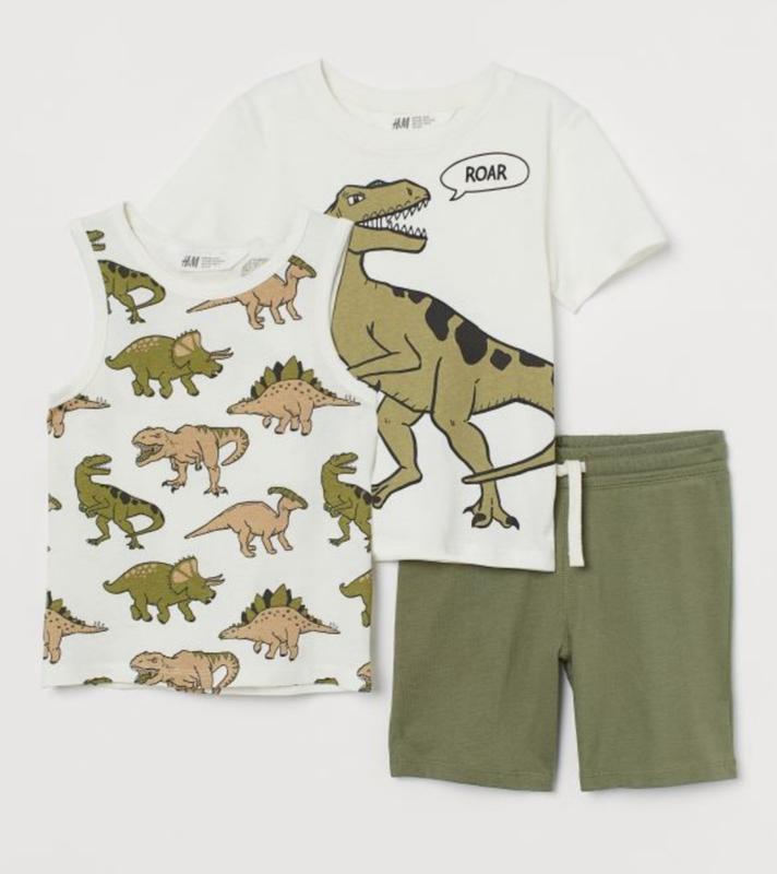Набор комплект  футболка , майка , шорты для мальчика h&m