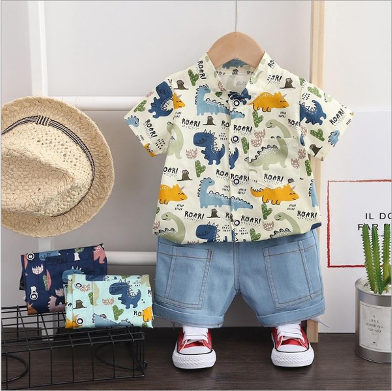 Бомбезный летний костюм рубашка и джинсовые шорты