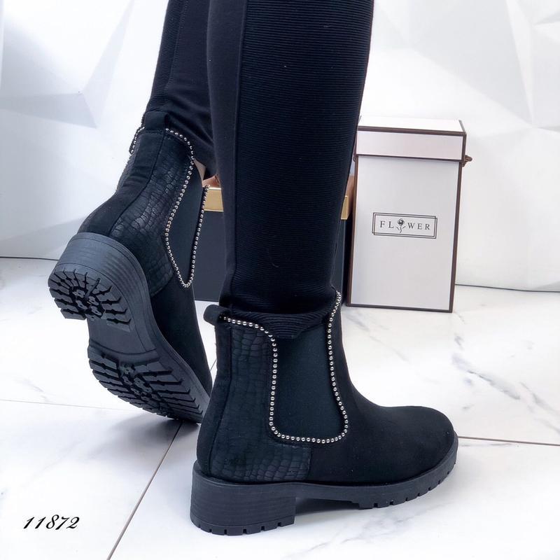 Осенние ботинки женские черные - Фото 2