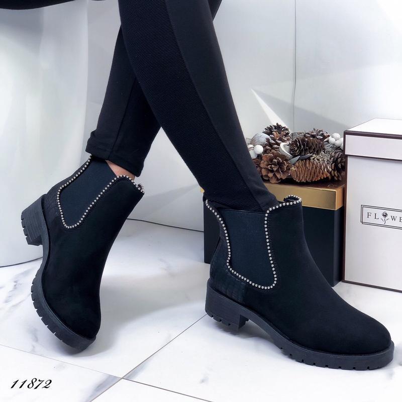 Осенние ботинки женские черные - Фото 3