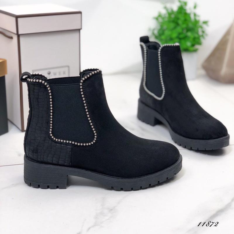 Осенние ботинки женские черные - Фото 4