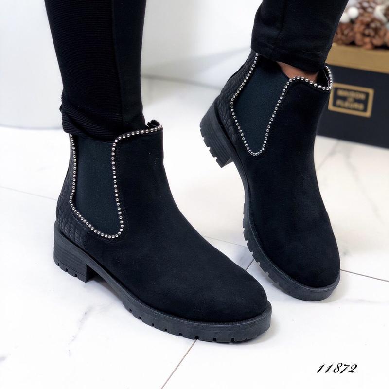 Осенние ботинки женские черные - Фото 5