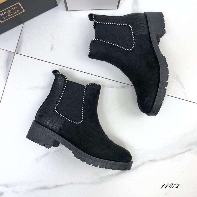 Осенние ботинки женские черные - Фото 6