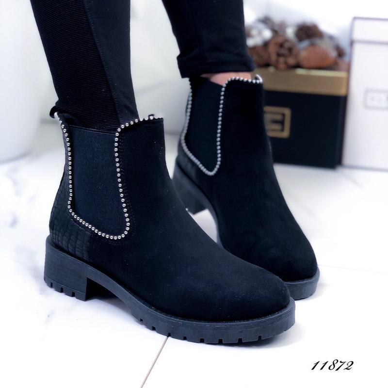 Осенние ботинки женские черные - Фото 7