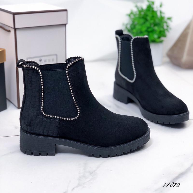 Осенние ботинки женские черные - Фото 8