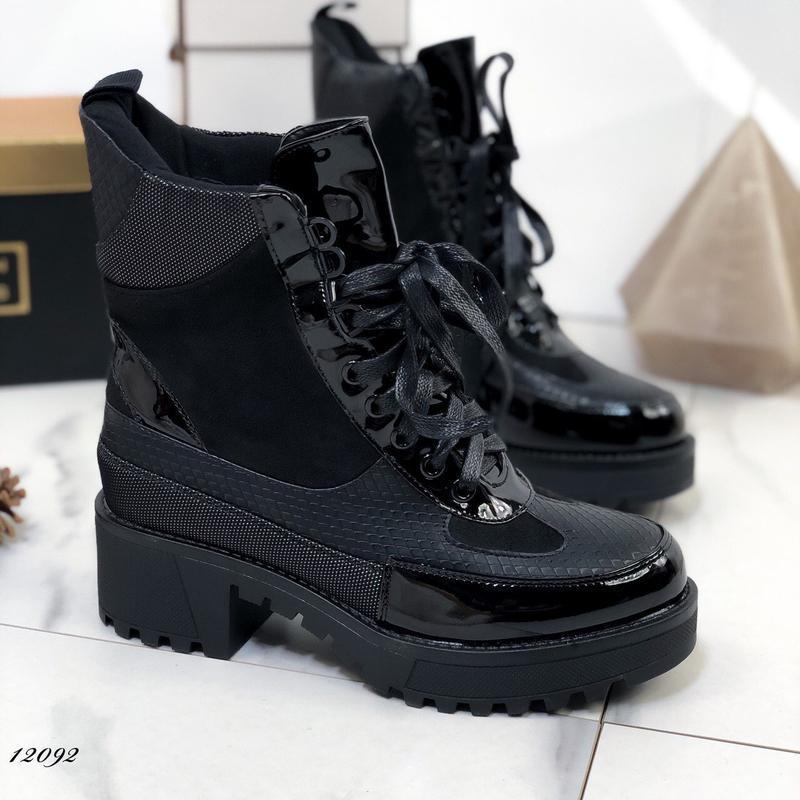 Ботинки женские на каблуке демисезонные - Фото 2