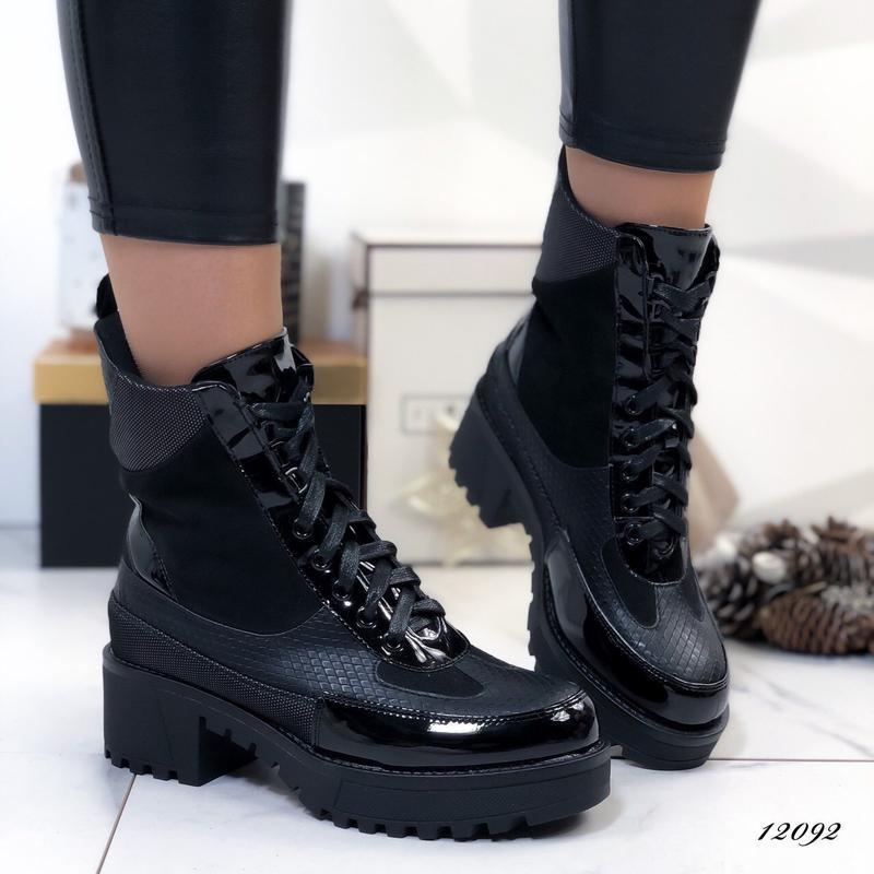 Ботинки женские на каблуке демисезонные - Фото 3