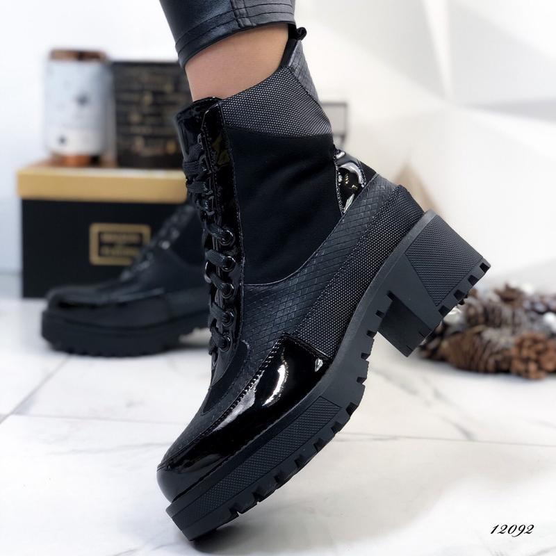 Ботинки женские на каблуке демисезонные - Фото 4