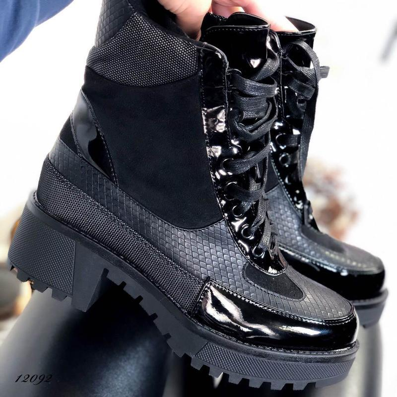Ботинки женские на каблуке демисезонные - Фото 5