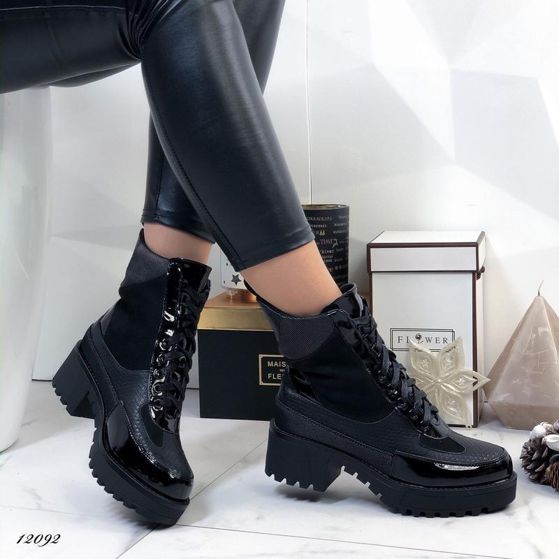Ботинки женские на каблуке демисезонные - Фото 6