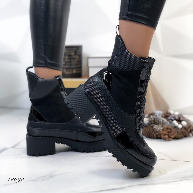 Ботинки женские на каблуке демисезонные - Фото 7