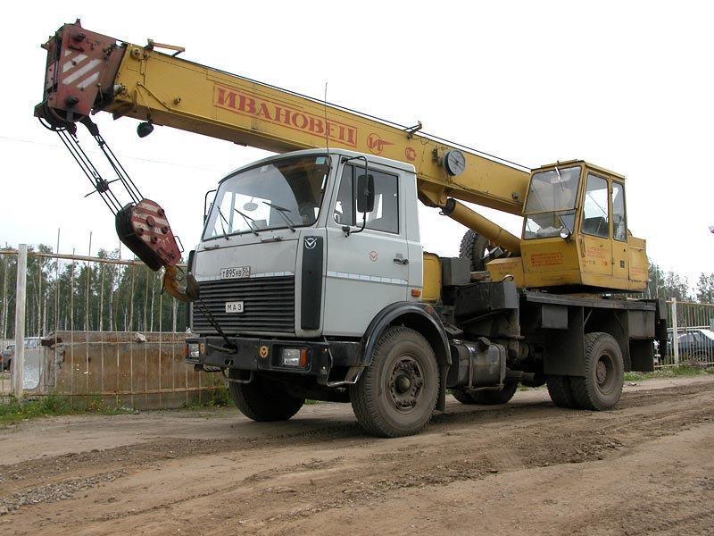 Аренда и услуги автокрана МАЗ 5337 10т