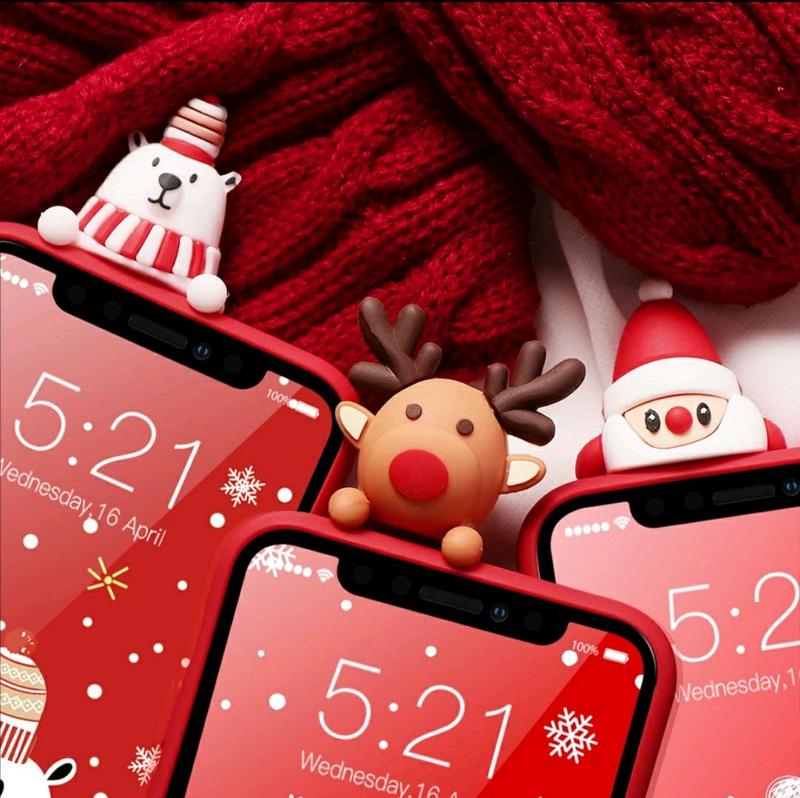 Новогодний чехол на айфон 7, 7plus, 8, 8plus, xr, 6, 6s, 6s plus - Фото 5