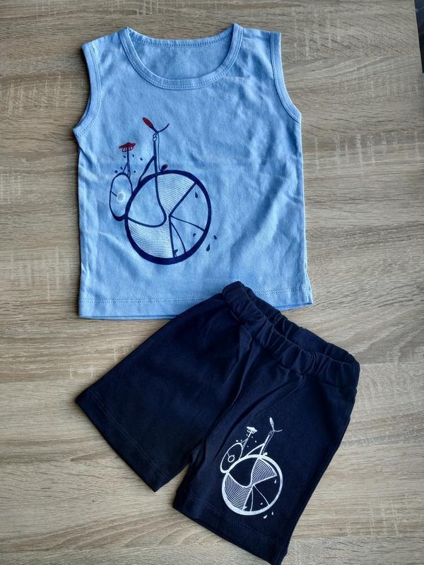 Комплект для мальчика , футболка и шорты