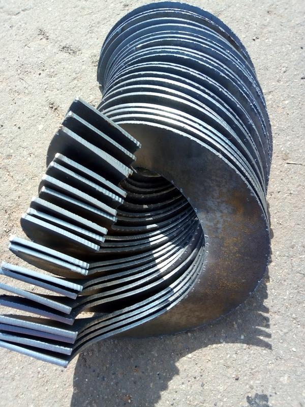Витки шнека, сегмент шнека, спираль шнека