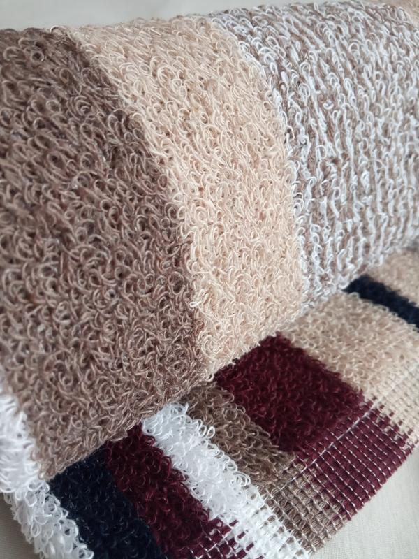 Махровое полотенце для рук коричневое 70*40 - Фото 2