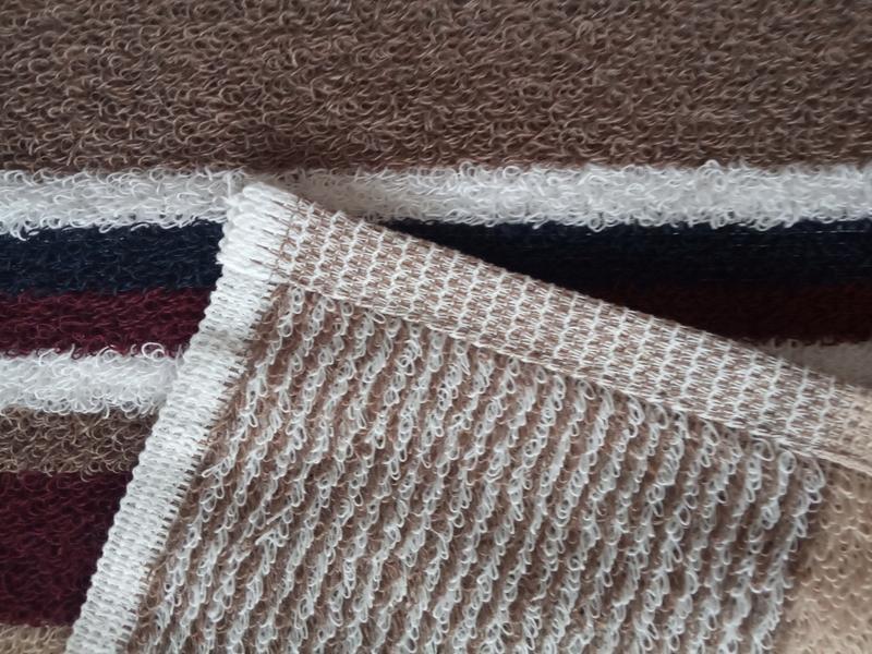 Махровое полотенце для рук коричневое 70*40 - Фото 3