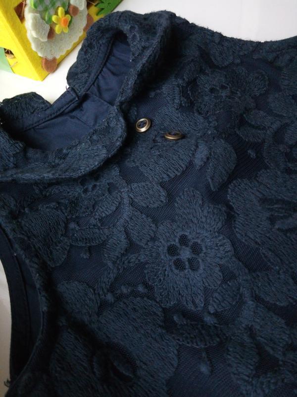 Элегантное кружевное платье для маленькой леди (12-18мес) - Фото 3