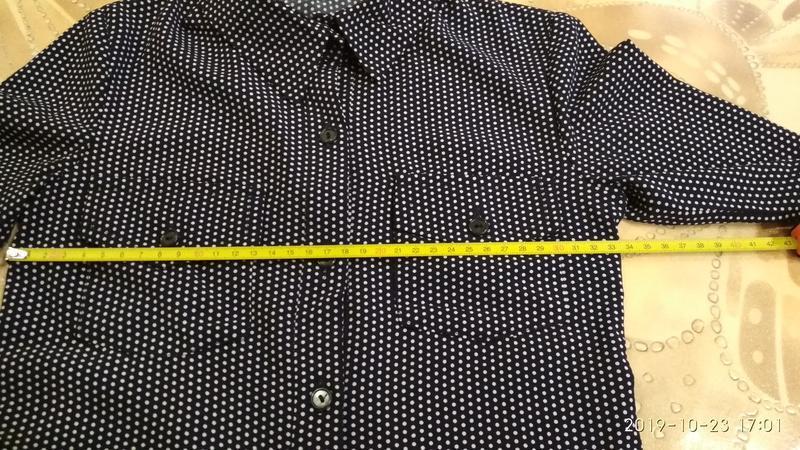 Стильная рубашка в горошек - Фото 6
