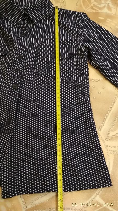 Стильная рубашка в горошек - Фото 7
