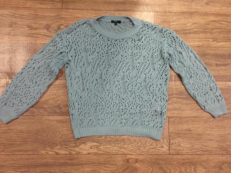 Супер -модный свитер с ажурным «дырчатым» узором.48 р!прелесть! - Фото 3