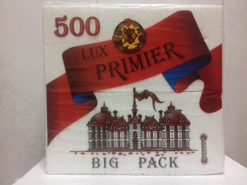 """Салфетка бумажная Барная Lux Big Pack 500 шт ТМ """"Primier"""""""