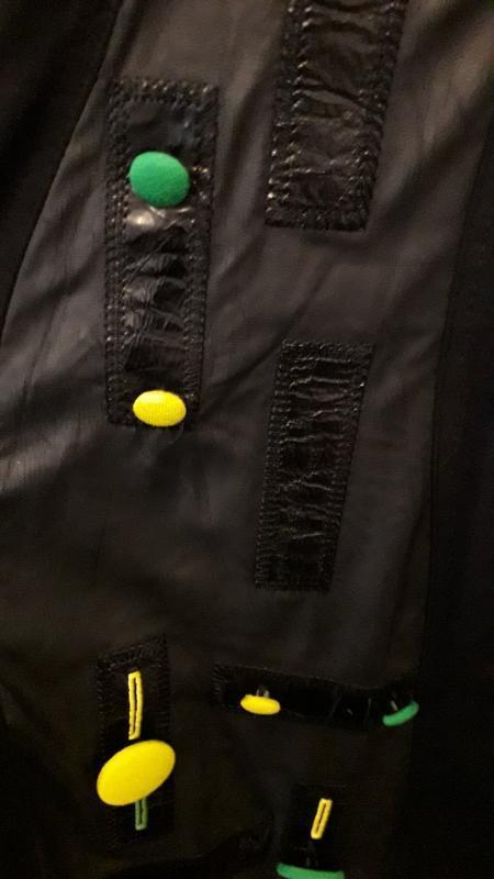 Черная натуральная длинная накидка легкая кардиган с капюшоном... - Фото 2