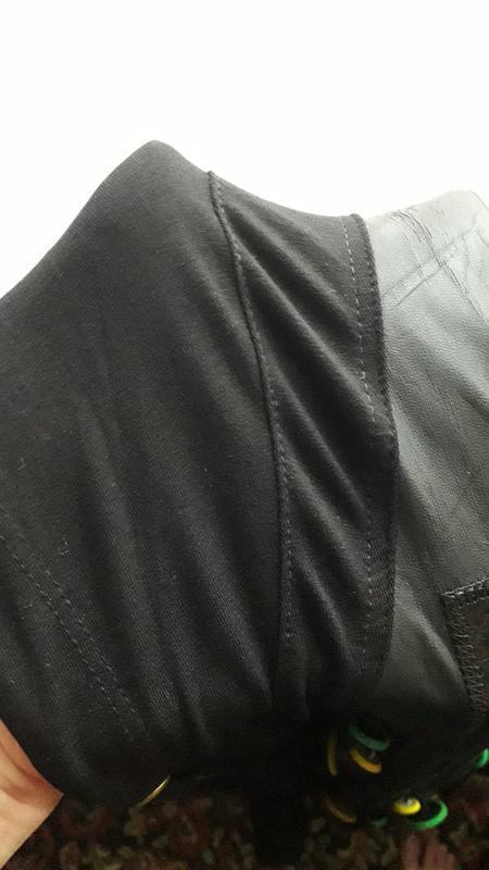Черная натуральная длинная накидка легкая кардиган с капюшоном... - Фото 5