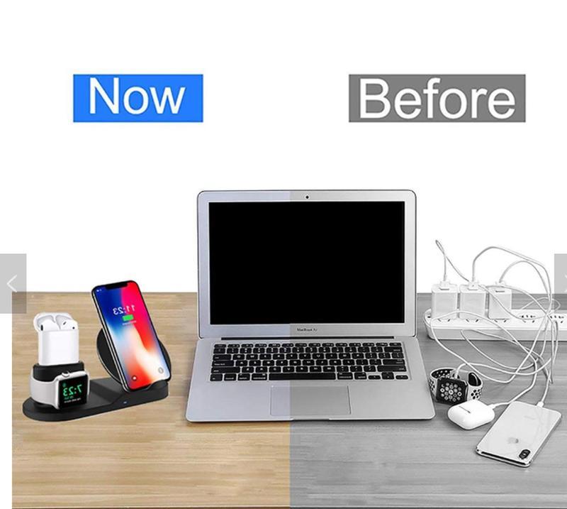 Беспроводная зарядка 3в1 iPhone,AppleWatch,AirPods от Поставщика - Фото 4