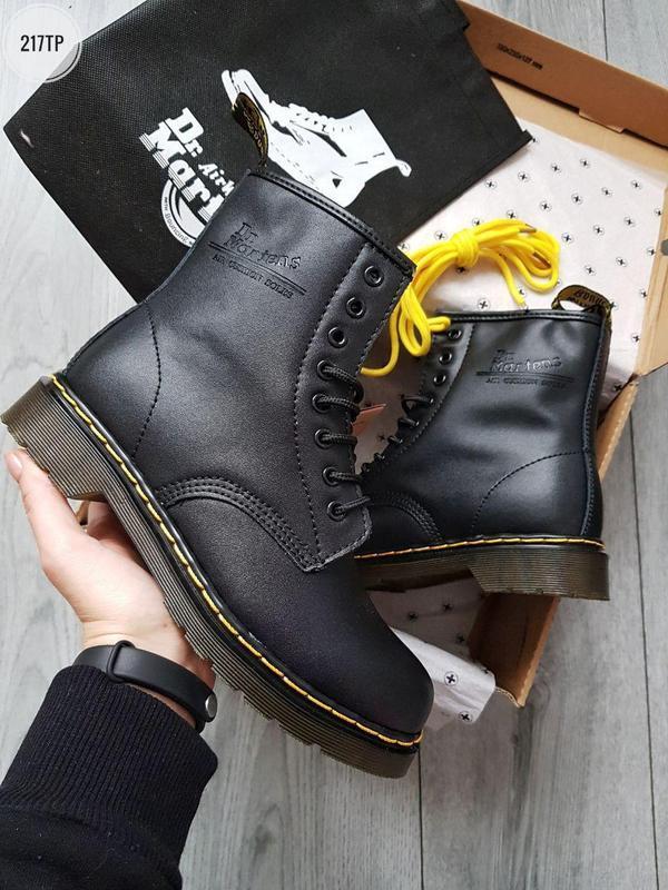 ❄️dr martens 1460 black❄️зимние чёрные мужские кожаные ботинки...