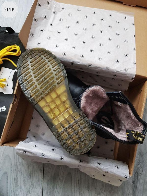 ❄️dr martens 1460 black❄️зимние чёрные мужские кожаные ботинки... - Фото 3