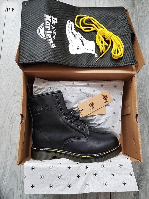 ❄️dr martens 1460 black❄️зимние чёрные мужские кожаные ботинки... - Фото 4