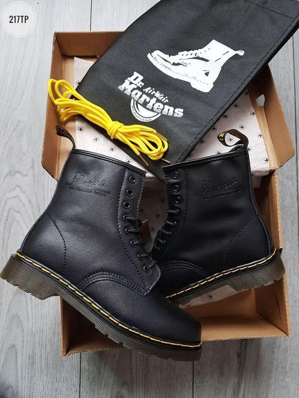 ❄️dr martens 1460 black❄️зимние чёрные мужские кожаные ботинки... - Фото 5