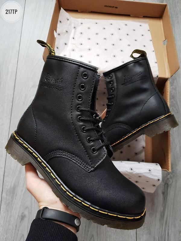❄️dr martens 1460 black❄️зимние чёрные мужские кожаные ботинки... - Фото 6