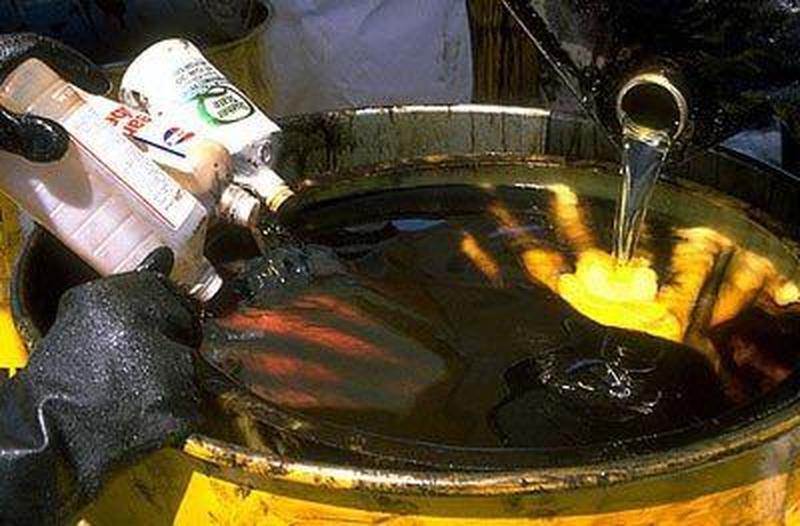 Суміші відпрацьовані фарби / відпрацьовані нафтопродукти утилізац