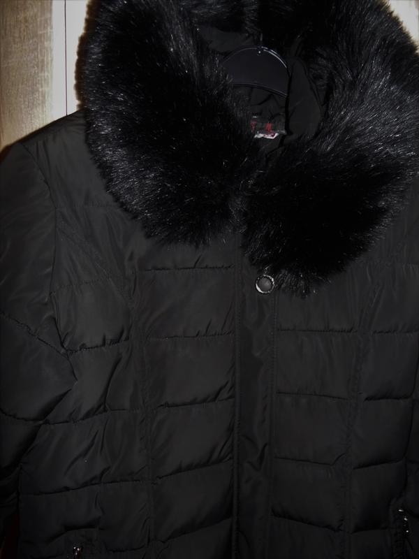 Зимнее длинное пальто куртка - Фото 2