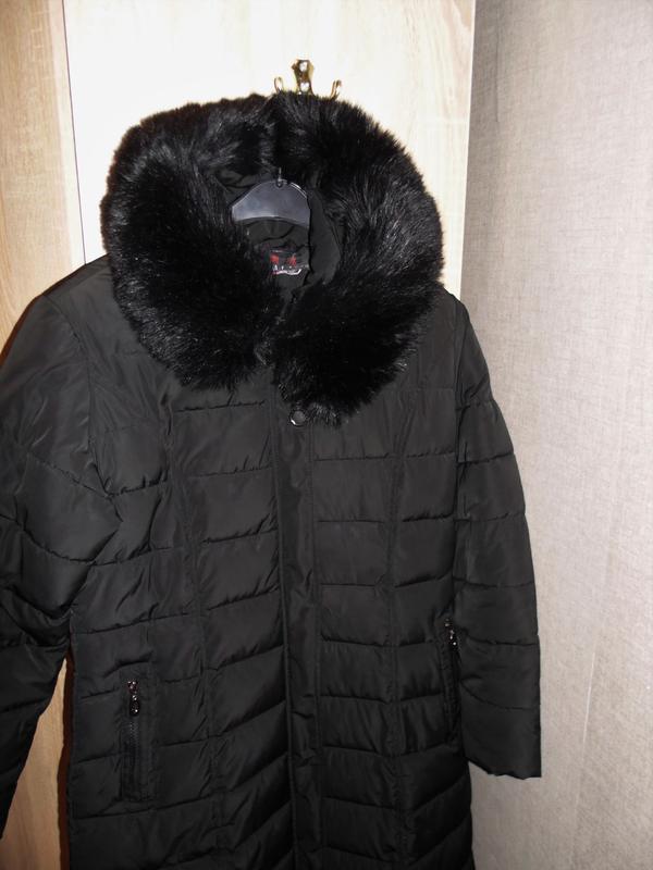 Зимнее длинное пальто куртка