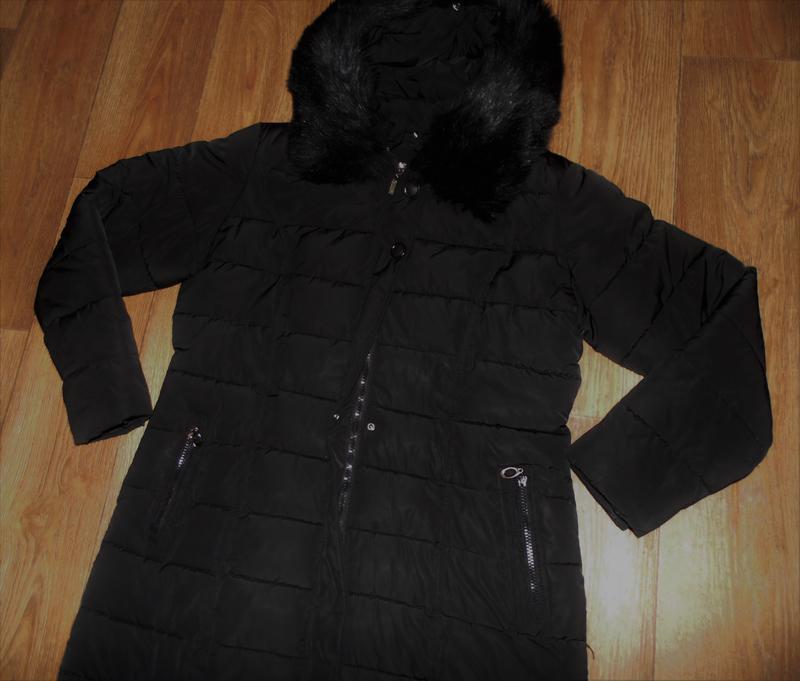 Зимнее длинное пальто куртка - Фото 4