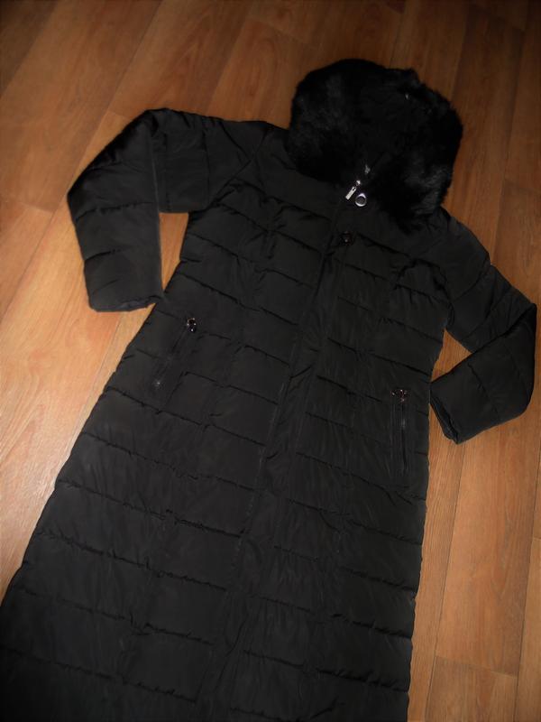 Зимнее длинное пальто куртка - Фото 6